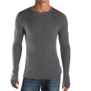 NWT! Theory Mens Sweater Mertene C Hobbes Grey